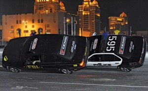 A breath-taking performance outside the Doha Exhibition Centre as part of the Qatar Motor Show.