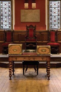 The Debating Chamber of the Oxford Union.