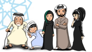 Cartoon characters Nahyan, his sister Shamma, his parents Um and Abu Nahyan, and his grandfather El Waled have been created to promote EXPO2020.