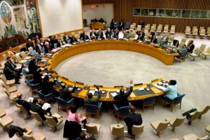 The UN Security Council in session.